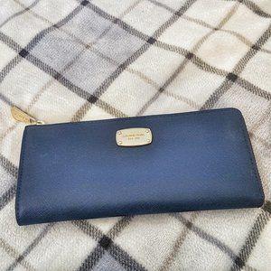 Blue leather Michael Kors wallet